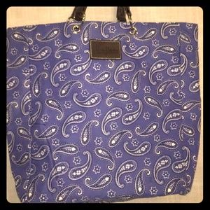 Neiman Marcus Tote Shopping Bag  Blue Background